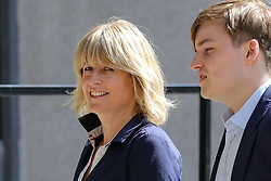 © Licensed to London News Pictures. 23/07/2019. London, UK. Rachel Johnson (L),  Boris Johnson's sister arrives for the result of the Conservative Party leadership race at  QEII Centre. Photo credit: Dinendra Haria/LNP
