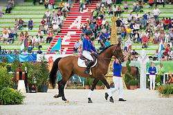 Kraque Boom - Selle Francais Parade - Closing Ceremony - Alltech FEI World Equestrian Games™ 2014 - Normandy, France.<br /> © Hippo Foto Team - Jon Stroud<br /> 07/09/14