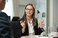 08 JUL 2015, BERLIN/GERMANY:<br /> Katrin Suder, Staatssekretaerin im Bundesministerium der Verteidigung, waehrend einem Interview, in Ihrem Buero, Bundesministerium der Verteidigung<br /> IMAGE: 20150708-01-017<br /> KEYWORDS: BMVg