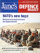 Cover of Jane's Defence featuring development of the Afghan National Army, December 17, 2008.