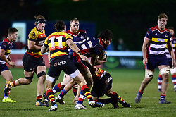 Steven Luatua of Bristol Rugby is tackled  - Mandatory by-line: Dougie Allward/JMP - 30/12/2017 - RUGBY - The Athletic Ground - Richmond, England - Richmond v Bristol Rugby - Greene King IPA Championship