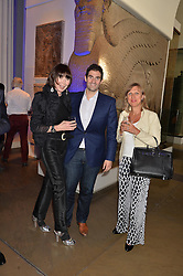 Thursday 22nd May saw VIPs, influencers, social faces and Samsung BlueHouse members attend A Private View of the Exhibition Ancient lives new discoveries.  Hosted by Samsung BlueHouse, guests enjoyed an expert talk from Visionary Director of The British Museum, Neil Macgregor, hailed as the UK's greatest explainer of the power of museums and their treasures. Guests also were treated to Champagne and canapés. <br /> Picture Shows:-Left to right, CAROL VICTOR, ZAFAR RUSHDIE and FRANCINE CORBIN.