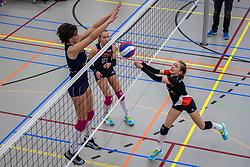 31-03-2018 NED: Finale C Volleybaldirect Open, Wognum<br /> 16 teams van meisjes en jongens C streden om het Nederlands Kampioenschap / Next Volley Dordrecht vs. Ecare Apollo 8