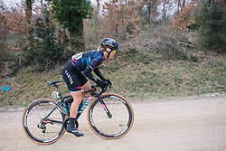 Tiffany Cromwell gets out of the saddle for another gravel climb - 2016 Strade Bianche - Elite Women, a 121km road race from Siena to Piazza del Campo on March 5, 2016 in Tuscany, Italy.