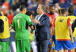 September 1, 2017 - Harrison, NJ, USA - Harrison, N.J. - Friday September 01, 2017:   Keylor Navas, Bruce Arena during a 2017 FIFA World Cup Qualifying (WCQ) round match between the men's national teams of the United States (USA) and Costa Rica (CRC) at Red Bull Arena. (Credit Image: © John Todd/ISIPhotos via ZUMA Wire)