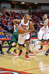 06 December 2008: Shala Jackson during a game between the Eastern Michigan Eagles and the Illinois State Redbirds on Doug Collins Court inside Redbird Arena on the campus of Illinois State University, Normal Il.