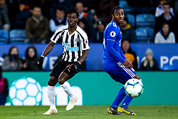 Christian Atsu of Newcastle United takes on Ricardo Pereira of Leicester City - Mandatory by-line: Robbie Stephenson/JMP - 12/04/2019 - FOOTBALL - King Power Stadium - Leicester, England - Leicester City v Newcastle United - Premier League