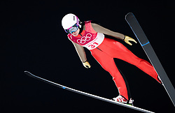February 12, 2018 - Pyeongchang, SOUTH KOREA - 180212 Lea Lemare of France competes in Ski Jumping, Women's Normal Hill Individual Final, during day three of the 2018 Winter Olympics on February 12, 2018 in Pyeongchang..Photo: Joel Marklund / BILDBYRN / kod JM / 87619 (Credit Image: © Joel Marklund/Bildbyran via ZUMA Press)