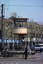 Gaurd Tower On City Street