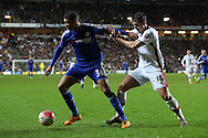 Ruben Loftus-Cheek of Chelsea blocks the ball from Joe Walsh of MK Dons.  The Emirates FA cup, 4th round match, MK Dons v Chelsea at the Stadium MK in Milton Keynes on Sunday 31st January 2016.<br /> pic by John Patrick Fletcher, Andrew Orchard sports photography.