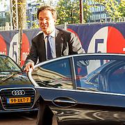 NLD/Amserdam/20150505 - Bevrijdingsconcert 2015 Amsterdam, aankomst premier Mark Rutte