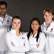 Bates squash team shot on January 10, 2018.