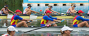 Lucerne, SWITZERLAND.  GBR W8+ Bow, Rosamund BRADBURY, Louisa REEVE, Katie GREVES, Donna ETIEBET, Jessica EDDIE, Zoe LEE, Polly SWANN, Caragh MCMURTRY and cox Zoe DE TOLEDO,  Race for lanes  at the 2014 FISA WC III, Lake Rotsee.  11:48:45  Saturday  12/07/2014  [Mandatory Credit; Peter Spurrier/Intersport-images]