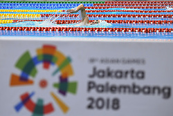 JAKARTA, Aug. 24, 2018  Sun Yang of China competes during men's 1500m freestyle final of swimming at the 18th Asian Games in Jakarta, Indonesia, Aug. 24, 2018. (Credit Image: © Pan Yulong/Xinhua via ZUMA Wire)