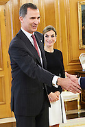 060216 Spanish Royals Attend audiences at Zarzuela Palace