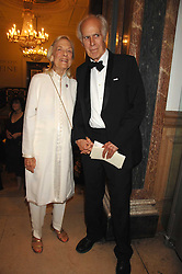 The HON.GEORGE BRUCE and his wife JEANNE BRUCE at a gala dinner for the Theatre Royal Bury St.Edmunds to celebrate the near completion of the restoration of the Grade 1 listed theatre, held at the Royal Academy, Piccadilly, London on 9th July 2007.<br />