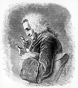 Bernard de Jussieu (1699-1777), French botanist.  A member of the family of distinguished botanists, he was director of the gardens at the Trianon, Versailles. From 'The Vegetable World', by Louis Figuier. (London, c1880). Engraving.