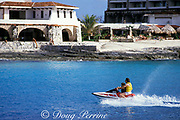 wave runner in front of Club Cozumel,<br /> Caribe Cozumel, Mexico,<br /> ( Caribbean Sea )