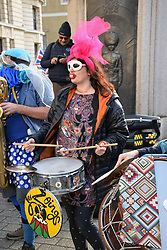 Les Zoings band at the Brexit People's Vote march, London 19 October 2019 UK