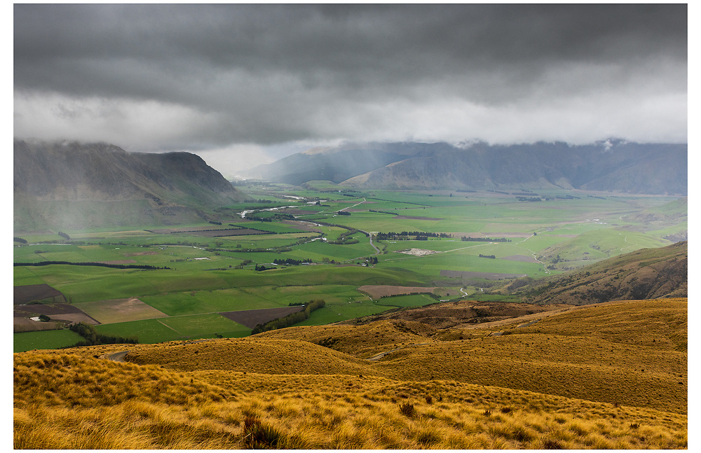 Fairlight Valley from the southern end of Nevis Rd, Southland.