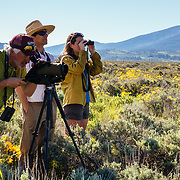 Searching for wildlife in Grand Teton National Park on a Teton Science Schools wildlife tour.(Greg Peck, Sean Baker, Tracy Logan)