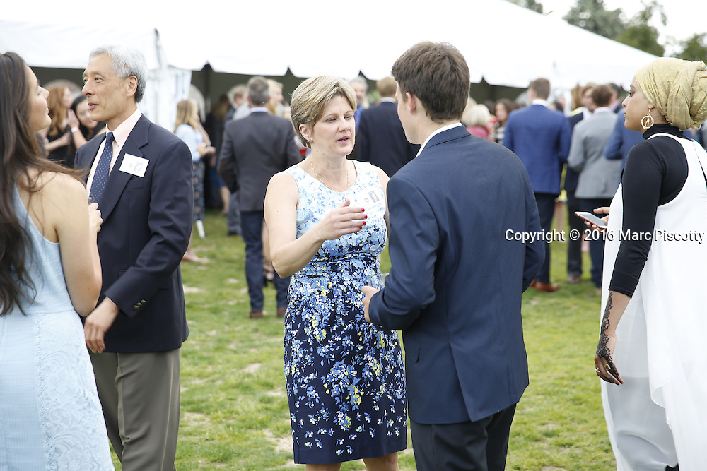 SHOT 6/1/16 6:09:26 PM - Colorado Academy Senior Class portrait in front of the Wellborn House and Class of 2016 Commencement Dinner at the Denver, Co. private school. (Photo by Marc Piscotty / © 2016)