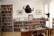 Hemingway's house on the outskirts of Havana. The rooms have been preserved as they were left when he died, with most of the original furniture and artefacts.