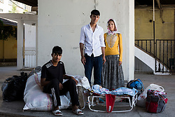 Sehriban and Sezgin couple are going to Ulas District of Sivas with their 4-month old baby Elanur and their relative Azat to work on hoe work. July 23, 2016.<br /> The Southern Kurtalan Train Express route, starting from Kurtalan, stops in Diyarbakir, Malatya, Sivas, Kayseri and Ankara from summer to fall. This train route is mostly used by seasonal workers that are living in east Turkey, but are working on the western part of the country from spring to fall. Photo by Aylin Kizil/NARphotos/ABACAPRESS.COM
