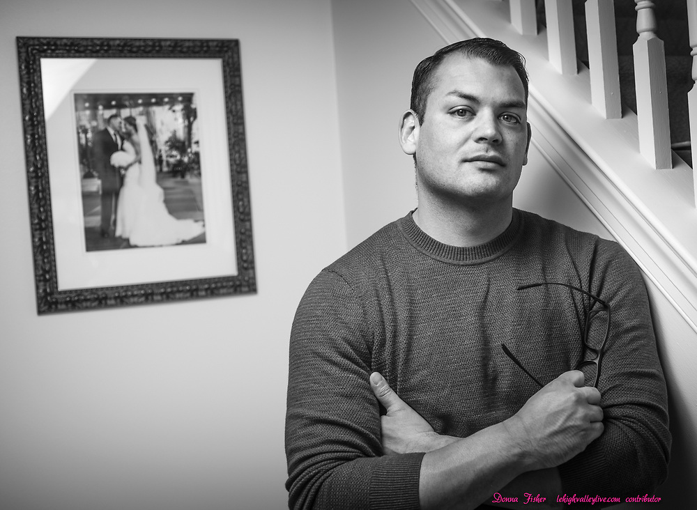 Campaign 2020 - voter profiles - William Audelo of Williams Township, Northampton County, Pa., poses in his home on Thursday, October 8, 2020.