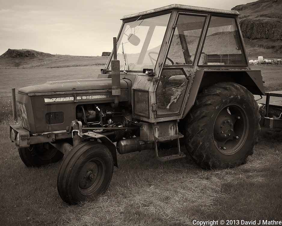 Zetor 6911 Tractor at the Smyrlabjörg Country Hotel in the Vatnajokull Region of Eastern Iceland. Image taken with a Leica X2 camera (ISO 100, 24 mm, f/5.6, 1/60 sec).
