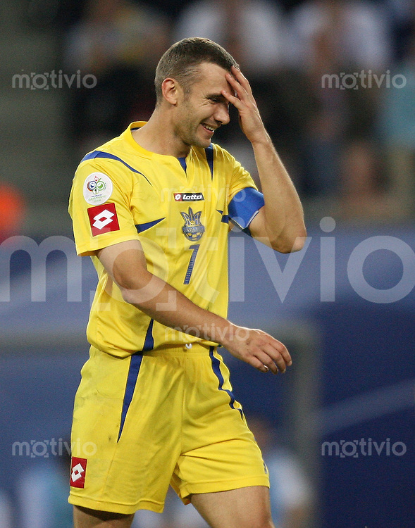 Fussball WM 2006 Viertelfinale Italien - Ukraine Andriy Shevchenko (UKR) enttaeuscht