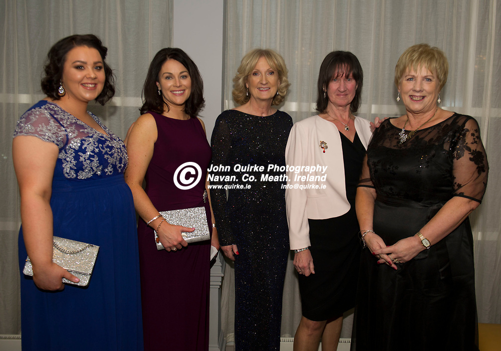 15-11-19. Meath Business and Tourism Awards 2019 at Dunboyne Castle, Hotel.<br /> L to R: Ciara Cox, Sandra McCann, Mary McGuigan, Patricia Halleran and Marian Caffrey, Meath Chronicle.<br /> Photo: John Quirke / www.quirke.ie<br /> ©John Quirke Photography, Unit 17, Blackcastle Shopping Cte. Navan. Co. Meath. 046-9079044 / 087-2579454.