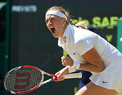 03.07.2014, All England Lawn Tennis Club, London, ENG, WTA Tour, Wimbledon, Tag 10, im Bild xxxx during the Ladies' Singles Semi-Final match on day ten // during day 10 of the Wimbledon Championships at the All England Lawn Tennis Club in London, Great Britain on 2014/07/03. EXPA Pictures © 2014, PhotoCredit: EXPA/ Propagandaphoto/ David Rawcliffe<br /> <br /> *****ATTENTION - OUT of ENG, GBR*****