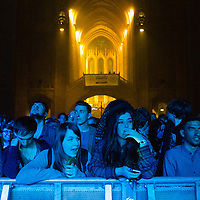 Fans of Kodaline wait for them to come on at the Anglican Cathedral as part of Sound City,  Liverpool, 3rd May, 2014.