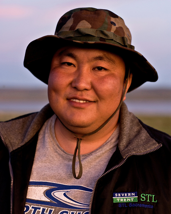 Portraits of Mongolian Man in a Hat