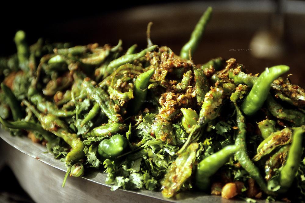hot green chilli and corriander