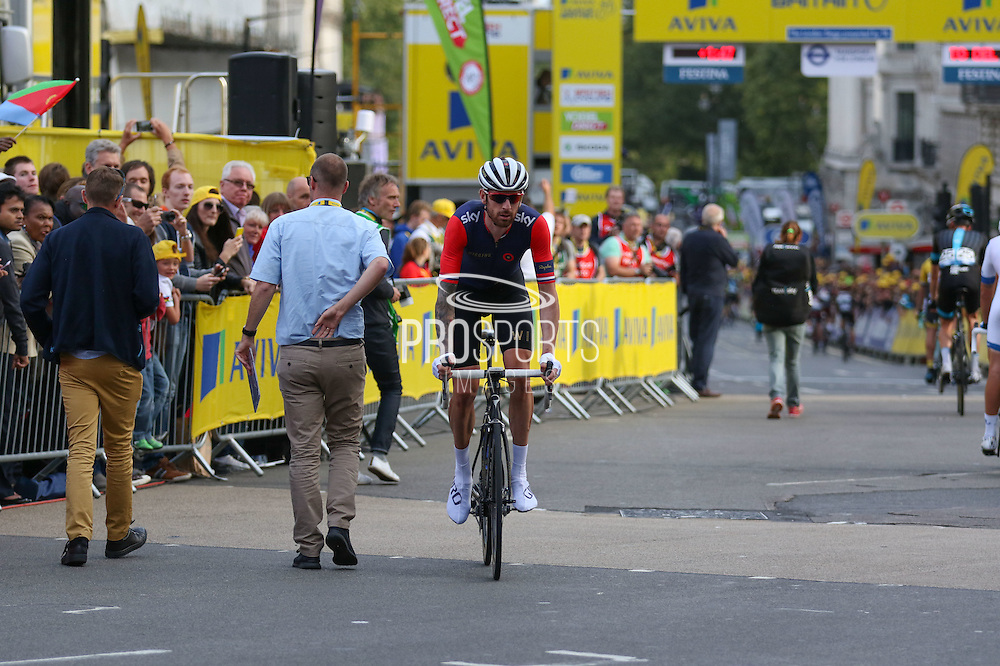Sir Bradley Wiggins after the London Stage of the Aviva Tour of Britain, Regent Street, London, United Kingdom on 13 September 2015. Photo by Ellie Hoad.