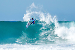 Julian Wilson of Australia advanced to the Quarterfinals of the Corona Open J-Bay after defeating Michel Bourez of Tahiti in Heat 4 of Round Five at pumping Supertubes, Jeffreys Bay, South Africa.