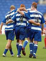 Picture: Henry Browne.<br />Date: 23/10/2004.<br />Reading v Crewe Alexandra Coca Cola Championship.<br />Steve Sidwell is congratulated by Andy Hughes and James Harper after scoring Reading's opener.