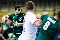Zohir Naim of Algeria during handball match between National Teams of Algeria and Germany at Day 3 of IHF Men's Tokyo Olympic  Qualification tournament, on March 14, 2021 in Max-Schmeling-Halle, Berlin, Germany. Photo by Vid Ponikvar / Sportida