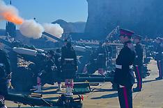 Queen's Birthday 21 gun salute | Edinburgh | 21 April 2016