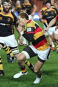 Declan O'Donnell weaves down the sideline during Waikato's  Round 3 ITM cup Rugby match, Waikato v Taranaki, at Waikato Stadium, Hamilton, New Zealand, Thursday 21 July 2011. Photo: Dion Mellow/photosport.co.nz