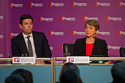 © London News Pictures. 16/05/2015. L to R Andy Burnham and Yvette Copper at Progress annual conference held at TUC Congress House in London to discuss the labour leadership race following a heavy defeat in the recent general election..  Photo credit: Ben Cawthra/LNP