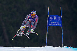 12.02.2011, Kandahar, Garmisch Partenkirchen, GER, FIS Alpin Ski WM 2011, GAP, Herren Abfahrt, im Bild Erik Guay (CAN) the race winner takes to the air competing in the men's downhill race on the Kandahar race piste at the 2011 Alpine skiing World Championships, EXPA Pictures © 2010, PhotoCredit: EXPA/ M. Gunn