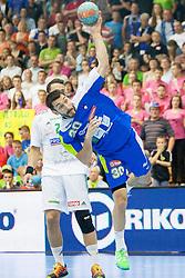 Dragan Gajic #30 of Slovenia during handball match between National teams of Slovenia and Hungary in play off of 2015 Men's World Championship Qualifications on June 15, 2014 in Rdeca dvorana, Velenje, Slovenia. Photo by Urban Urbanc / Sportida