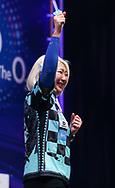 Mikuru Suzuki during the BDO World Professional Championships at the O2 Arena, London, United Kingdom on 9 January 2020.