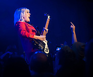 """Julia Cumming of Sunflower Bean performing at the Bootleg Theater in Los Angeles, CA, for the release of the band's latest EP, """"King of the Dudes."""""""