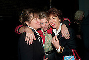 BARONESS HELENA KENNEDY; ROSIE BOYCOTT; KATHY LETTE, Gala performance of  RUBY WAX- LOSING IT  in aid of  Comic Relief. Menier Theatre. London. 23 February 2011. -DO NOT ARCHIVE-© Copyright Photograph by Dafydd Jones. 248 Clapham Rd. London SW9 0PZ. Tel 0207 820 0771. www.dafjones.com.