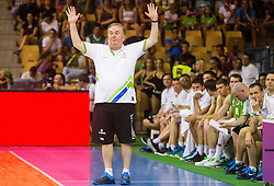 Bozidar Maljkovic, head coach of Slovenia during friendly match between National teams of Slovenia and Serbia for Eurobasket 2013 on August 3, 2013 in Arena Zlatorog, Celje, Slovenia. (Photo by Vid Ponikvar / Sportida.com)