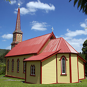 The old convent and St Joseph's Church, made famous by Mother Aubert and James K Baxter at Jerusalem, 64km north of Wanganui on the Whanganui River Road. Jerusalem, New Zealand. 29th December 2010.  Photo Tim Clayton.